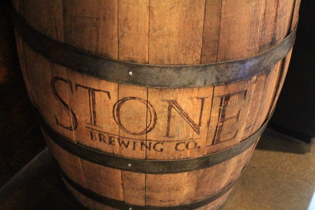 Stone Brewery Barrel