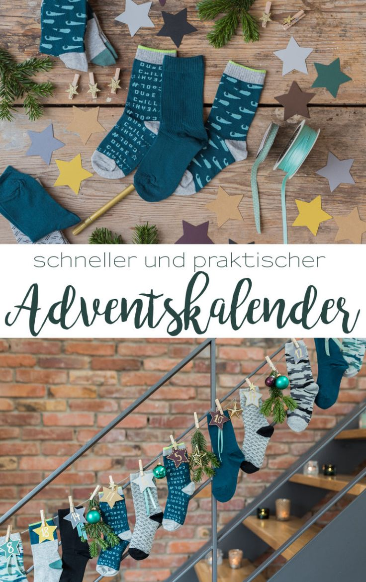Fast and practical: DIY advent calendar with socks