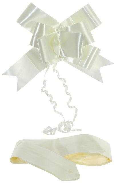 4 noeuds automatiques ivoire 15 cm, En polypro brillant