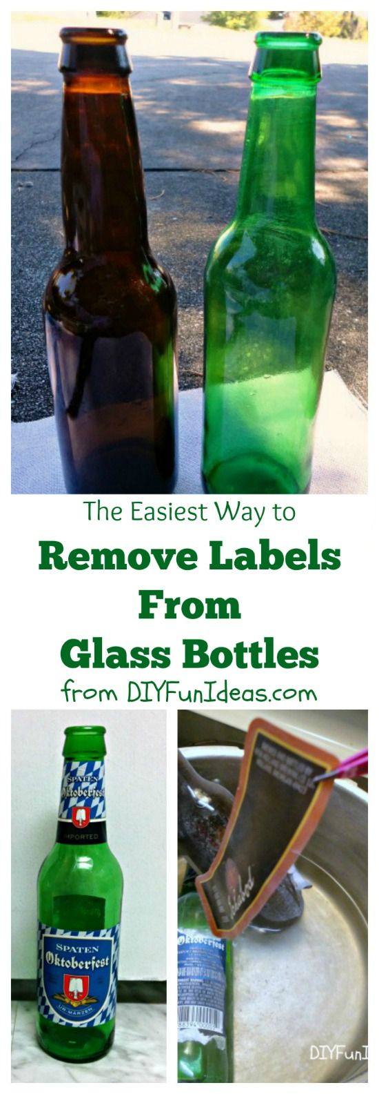 THE EASIEST WAY TO REMOVE LABELS FROM GLASS BOTTLES!!!!