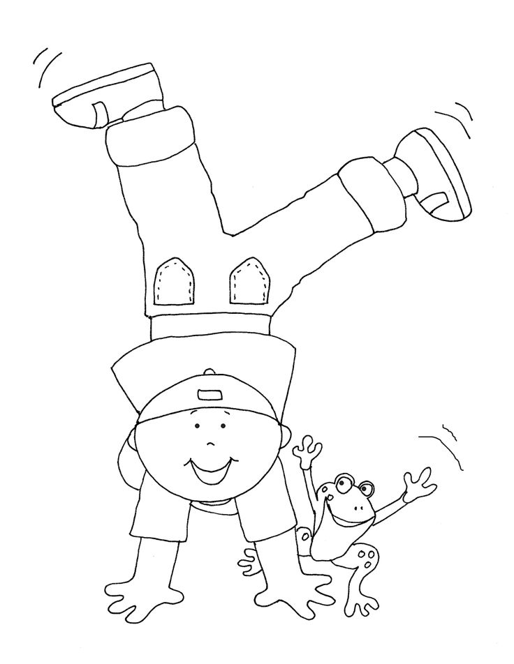 Happy Dance Boy with Frog | Digi stamps, Dance coloring ...