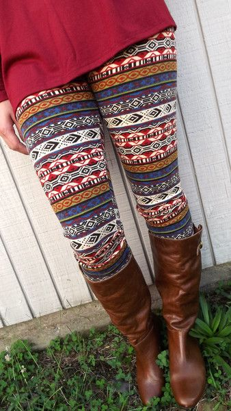 Print Leggings. Adorable but I don't think I could ever make them work for me!