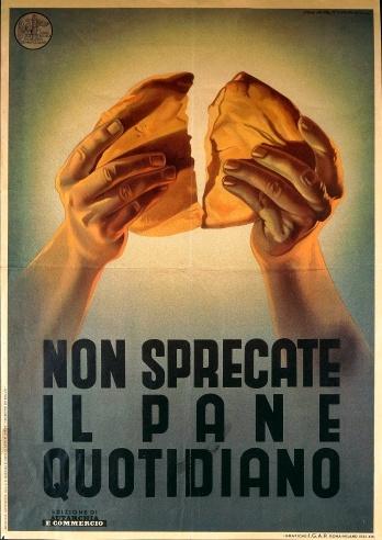 Propaganda poster by Fascist Confederation of Italian Traders, illustration by Martianti, Rome, 1941