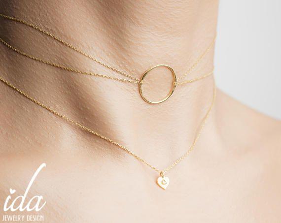 Conjunto de oro collar de capas  capas gargantilla  collar