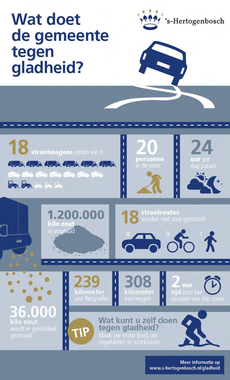 Infographic: wat doet de gemeente  's-Hertogenbosch tegen gladheid?