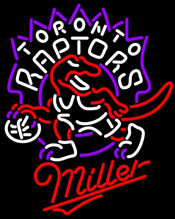Miller Toronto Raptors NBA Neon Sign, Miller with NBA Neon Signs | Beer with Sports Signs. Makes a great gift. High impact, eye catching, real glass tube neon sign. In stock. Ships in 5 days or less. Brand New Indoor Neon Sign. Neon Tube thickness is 9MM. All Neon Signs have 1 year warranty and 0% breakage guarantee.
