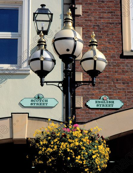 signs for Scotch and English Streets Carlisle Cumbria England UK | Leslie Garland Pictures