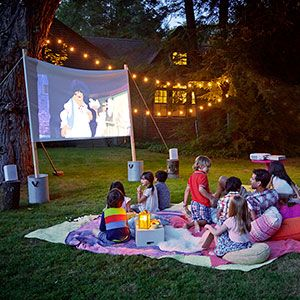 Re-create the magic of an old drive-in movie theater in your own backyard without spending major bucks on fancy equipment. Here's how to set one up