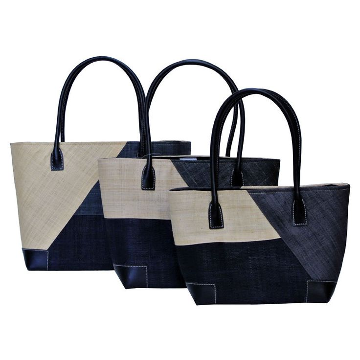 Lightweight #Baskets With Handles | Roma Baskets with Natural, Black and Blue pattern are extremely lightweight, very durable and ideal for shopping or great to throw your towel and book in when heading to the beach!