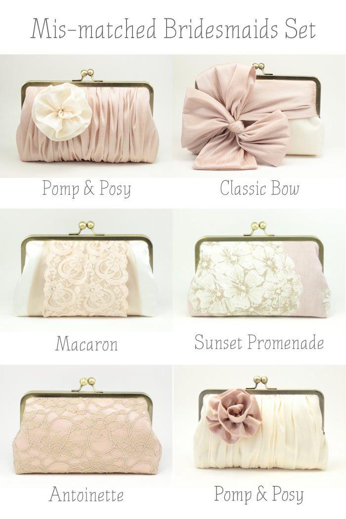 Bridesmaids Clutches // Wedding Accessories @viennaraeevents. (INSTAGRAM  TWITTER: ViennaRaeEvents)..... www.RadiantSkin.Rocks