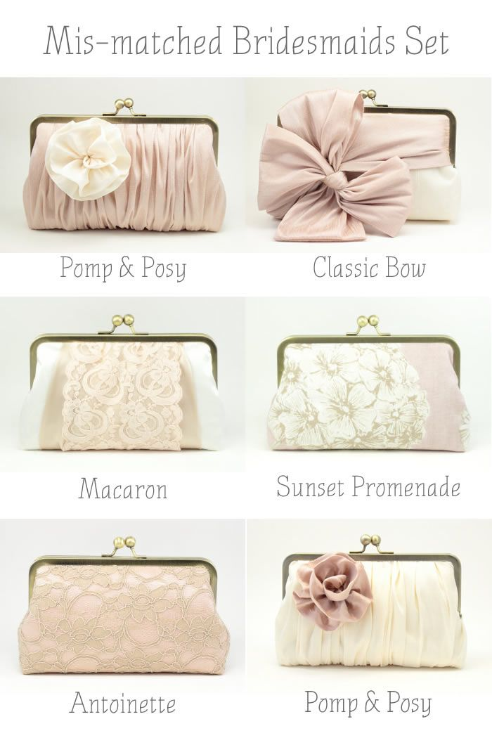 Bridesmaids Clutches // Wedding Accessories