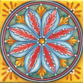 Italian Majolica Ceramic Tiles handcrafted in Deruta, Italy