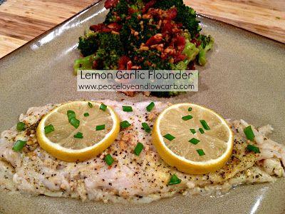 1 ½ lbs. Flounder 3 Tbs. Garlic – Minced 1 Lemon – Sliced 1 Tbs. Lemon Pepper Seasoning 1 tsp. Onion Salt 1 tsp. Italian Seasoning 2 Green O...