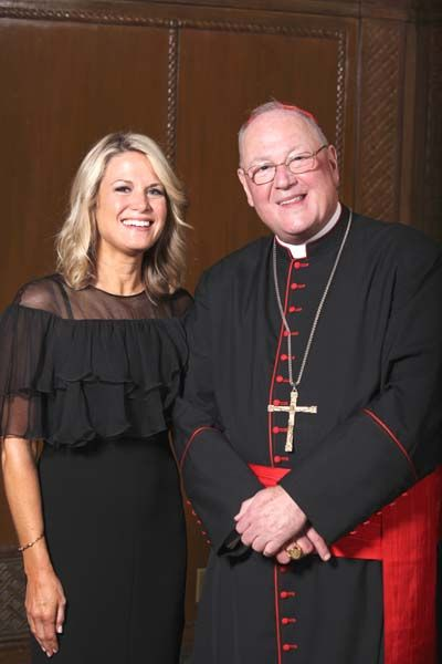 His Eminence, Timothy Michael Cardinal Dolan and Martha MacCallum  Photo by: Matthew Adam Photograph    FRIENDS OF INNER-CITY SCHOLARSHIP FU...