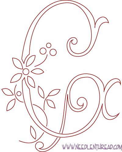 Monograma de bordado a mano - la letra G