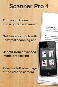 Scanner Pro by Readle: transforms your iPhone and the new iPad into portable scanners. Scan multipage documents to email or upload to Dropbox, Google Docs and Evernote. #Scanner_App #iPhone #iPad #Scanner_Pro #readdle