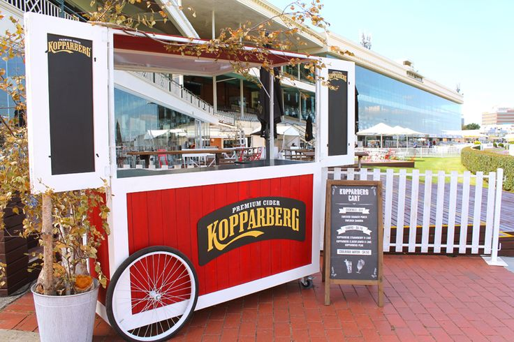Branding for Kopparberg activation cart with A-Frame signage
