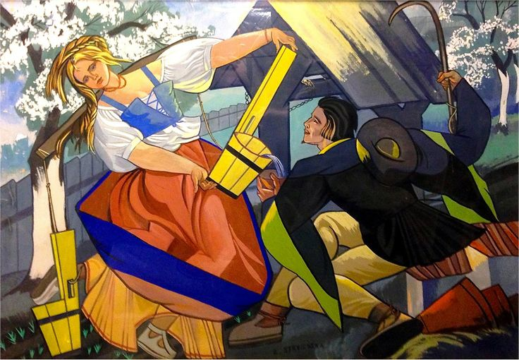 Zofia Stryjeńska (1891–1976) is one of the most popular and at the same time most scandalous Polish artists of Art Deco.