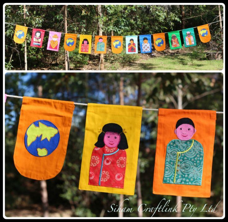 Multicultural Bunting - Fair Trade