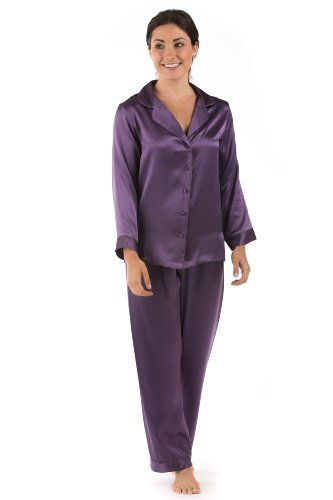 Classic Silk Pajamas for Women - Morning Dew - Multiple Colors Available - The Ultimate in Luxury Pajama Sleepwear...: