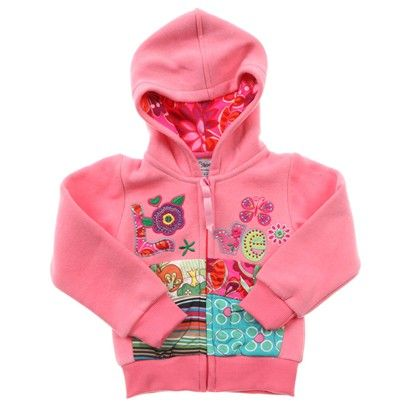 Girls jumper Light Pink Hoodie With 'Love' Embroidery And Patterned Pockets. -AJ53519-Lightpink $19.00 on Ozsale.com.au