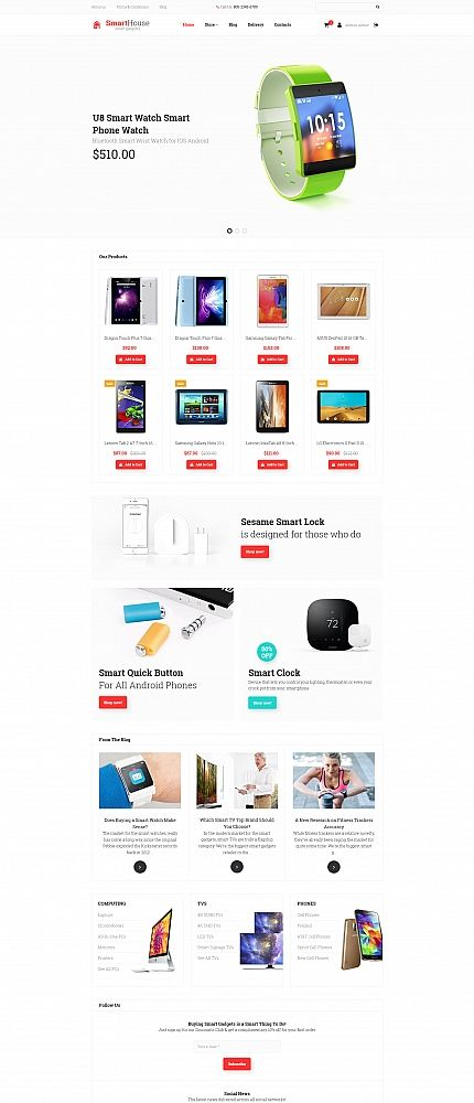 SmartHouse - #electronics  Store #responsive  MotoCMS #ecommerce  #template
