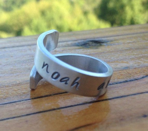 Personalised ring, Son daughter name on band, New Mommy baby shower gift, Unique Christmas present for Mummy, Friendship token, Stocking
