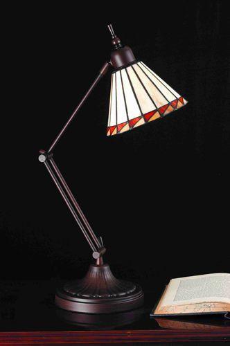 #MeydaTiffany Geometric Cone with Swing Arm 65946 | LampsUSA
