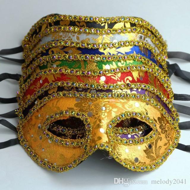 Cheap Masquerade Mask Gold Face With Border Mask Unisex Design Half Face Costume Ball Eye Mask Free Ship Halloween Masquerade Costumes Halloween Masquerade Mask From Melody2041, $0.91| Dhgate.Com