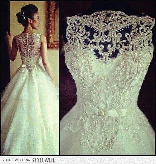 suknia ślubna http://www.prom-dressuk.com/wedding-dress… na Stylowi.pl