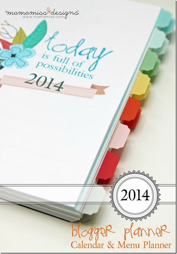 I LOVE this blogger planner! The daily maintenance page is worth the price by itself!! ---- 2014 Blogging Planner, Calendar, & Menu Planner | @mamamissblog #organize #2014planner