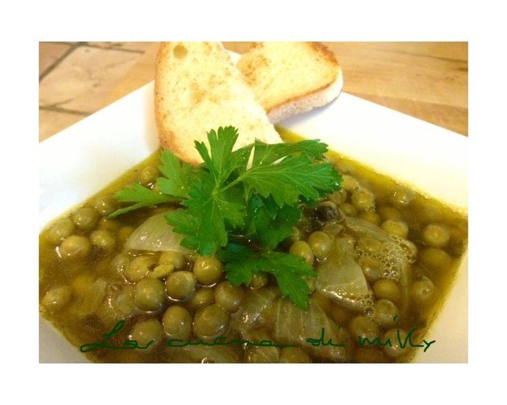 Zuppa di piselli al curry