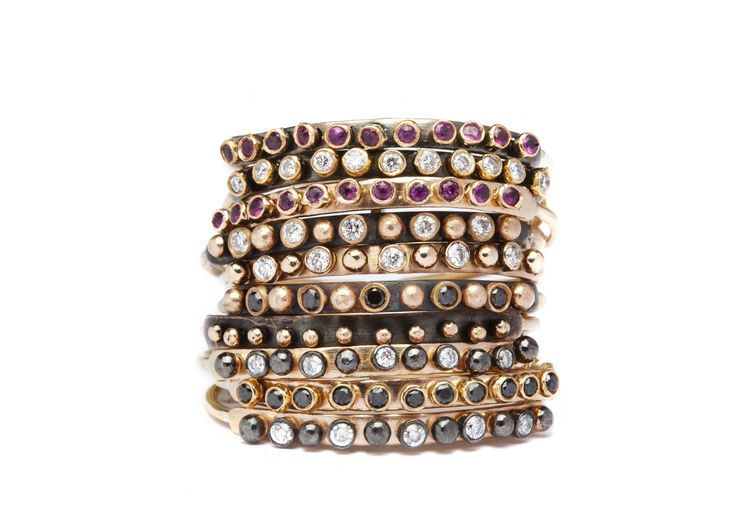 Punk, rock, glam, precious... Apriati new stacking rings