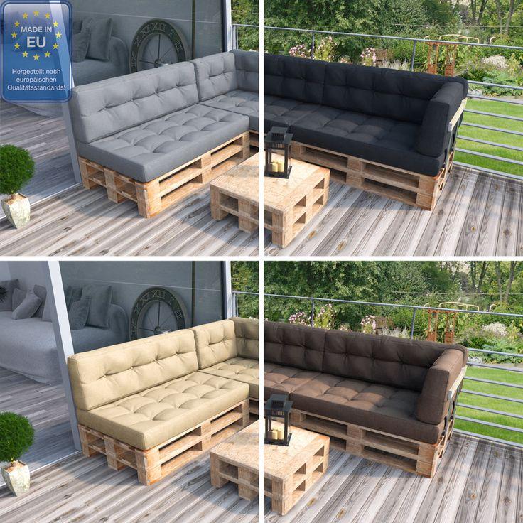 Die besten 25 palettenkissen ideen auf pinterest - Palettenmobel sofa ...