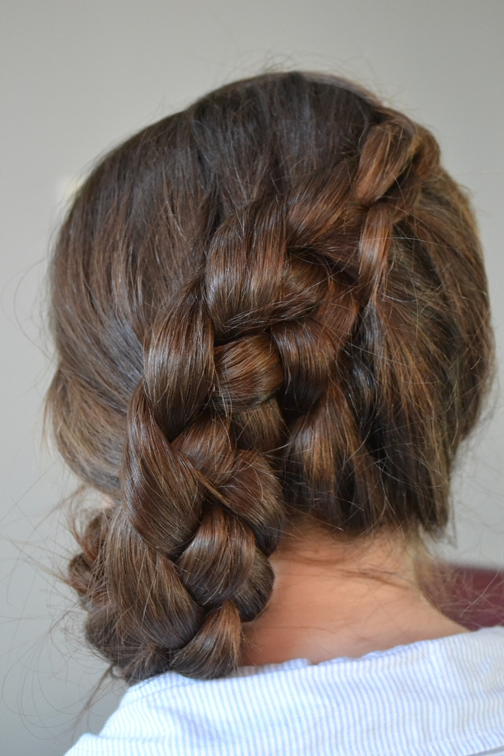 side dutch braid purple orchid portfolio pinterest