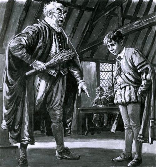 """Shakespeare Being Disciplined As A Boy"" by Cecil Langley Doughty (1913-1985)"