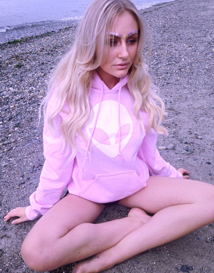 Alien Hoodie Women's Tumblr Alien Sweatshirt 996pink by TheBohipstian on Etsy https://www.etsy.com/listing/454290890/alien-hoodie-womens-tumblr-alien