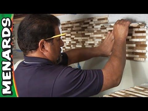 Tile Backsplash How To Install Menards Youtube