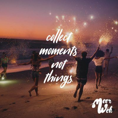 Visual Statements®️ collect moments not thingsSprüche / Zitate / Quotes / Meerweh / reisen / Fernweh / Wanderlust / Abenteuer / Strand / fliegen / Roadtrip
