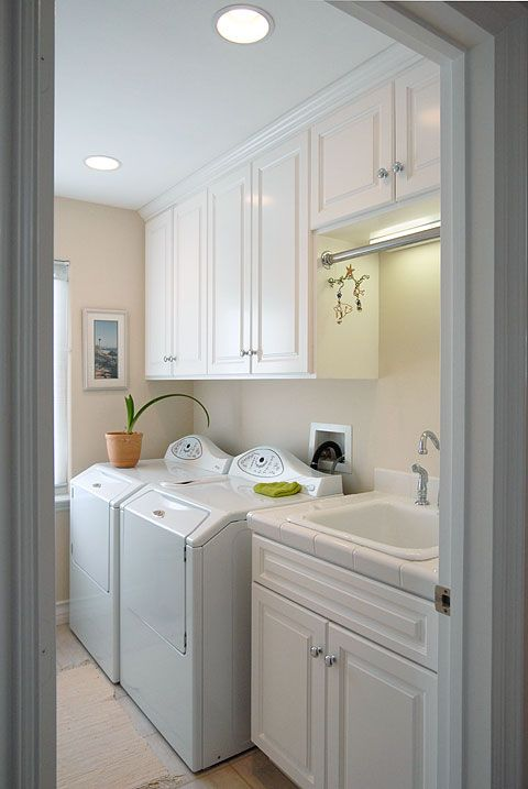 Laundry Room- cabinets above washer/dryer