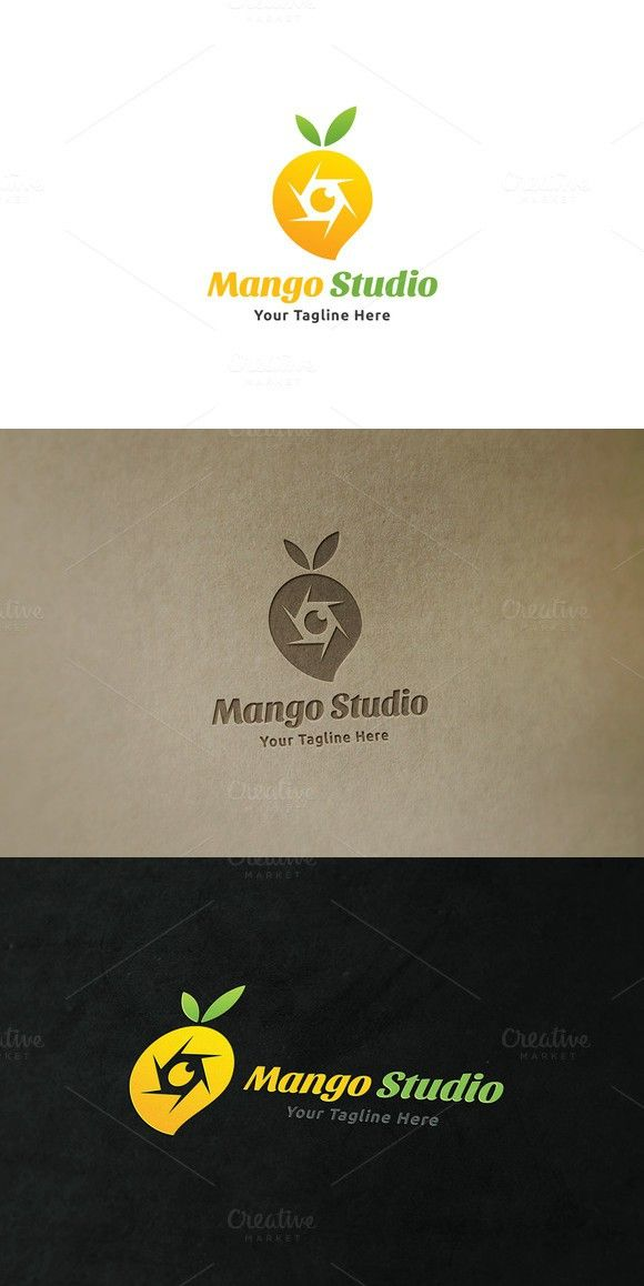 Mango Studio Logo. Gradients Photoshop. $29.00