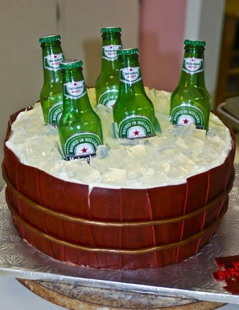 Cake With Beer Design