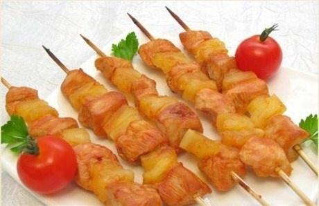 Шашлыки « Домашние» с куриным филе и помидорами