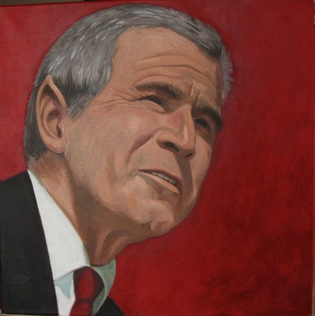 Dr Bush, protest painting as you can see;)