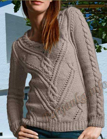 Пуловер (ж) 707 Creations 2013/2014 Bergere de France №3694