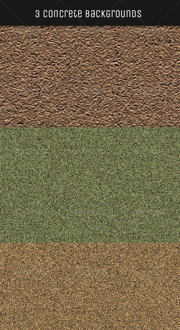 3 Seamless Concrete Textures