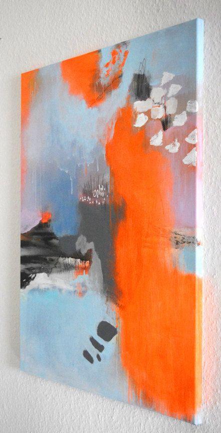 Original fine art abstract painting modern art by ARTbyKirsten