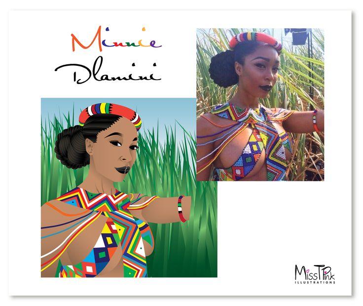 Comparison - Minnie Dlamini #southafrican #inspiring #woman #leading #figure #illustration #vector #artwork #compare