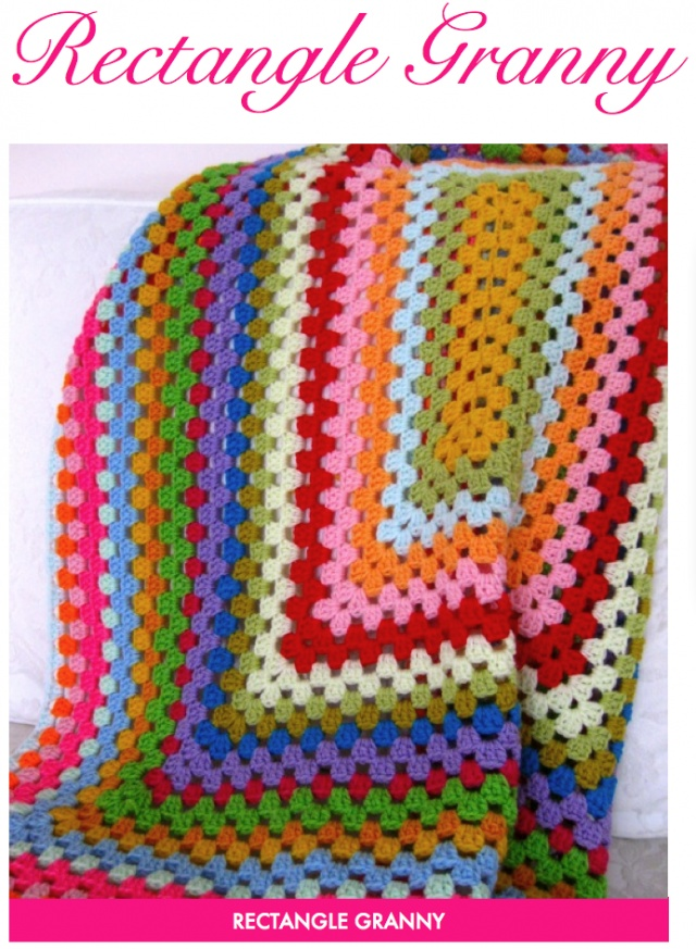 Crochet Giant Granny Square Rectangle Afghans A