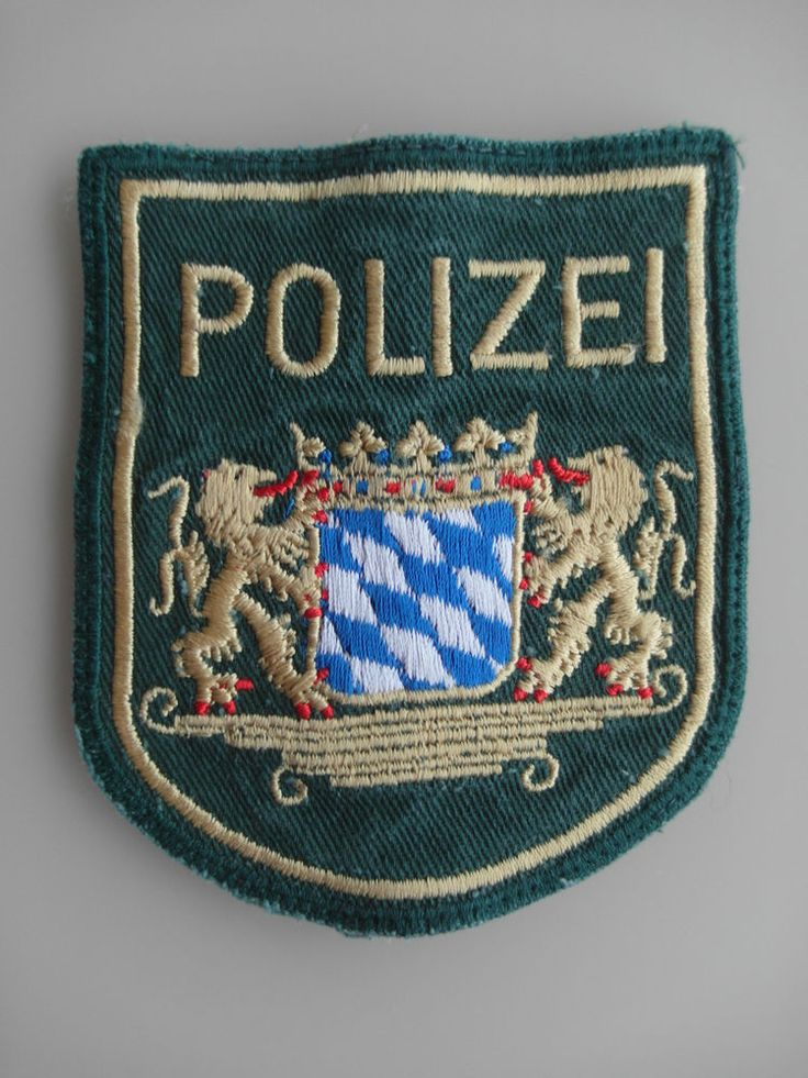 Patch Police Germany Deutschland Polizei München Ärmelemblem New Original Rarity  | eBay